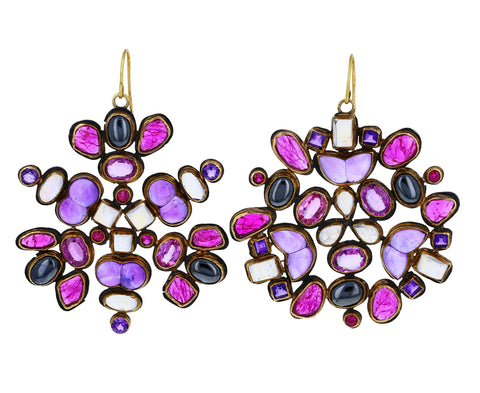 Multi Gem Kaleidoscope Earrings