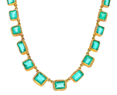 Emerald Riviere Tile Necklace