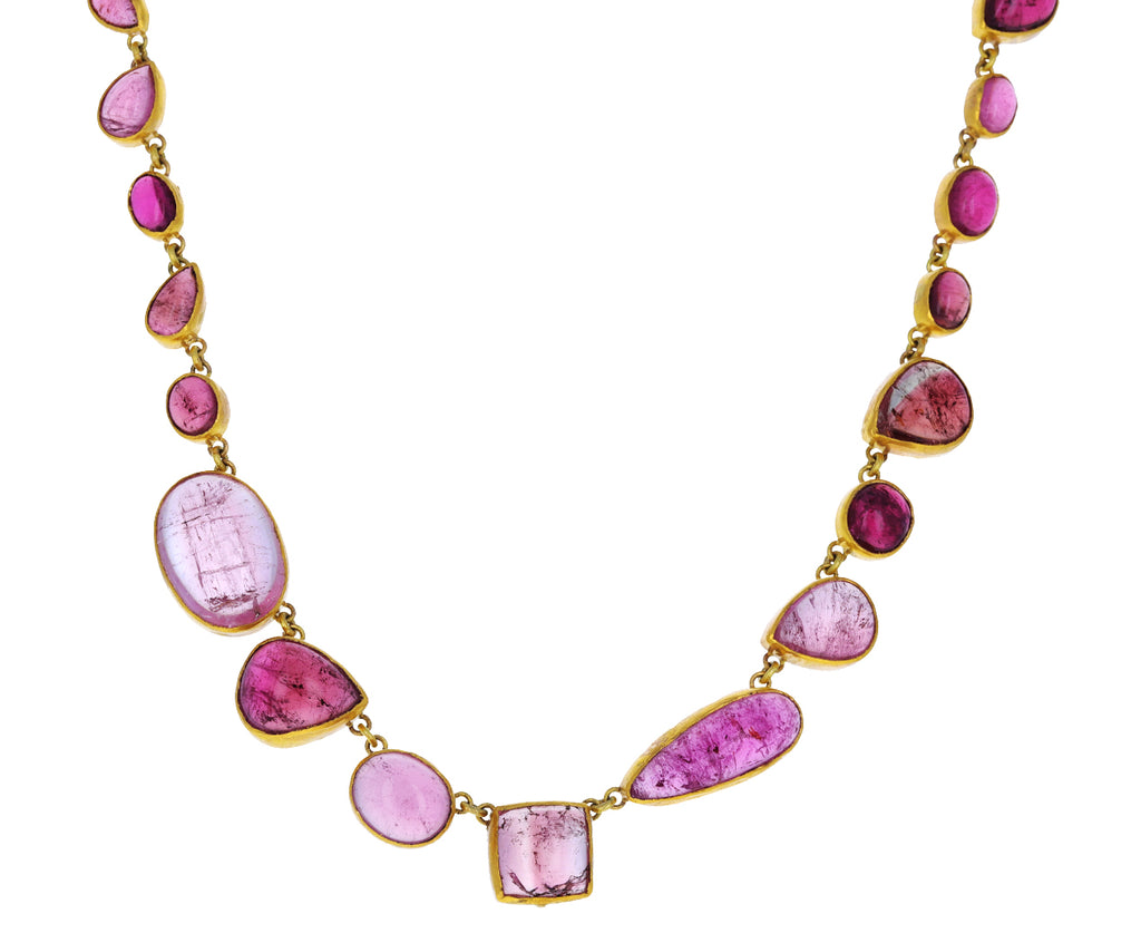 Pink Tourmaline Chain Necklace