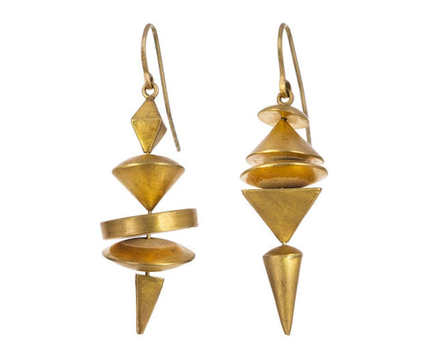 Gold Neo-Geo Earrings - TWISTonline
