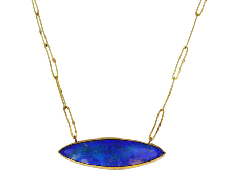 Lovely Marquise Opal Echo Necklace