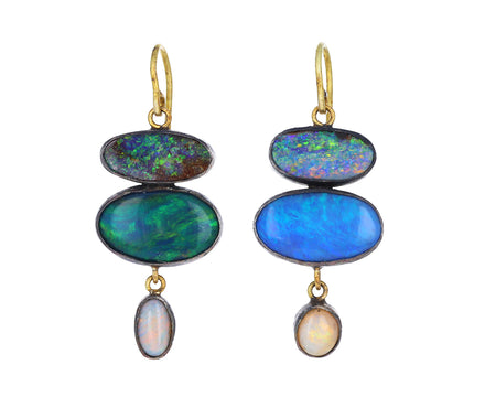 Triple Drop Opal Earrings