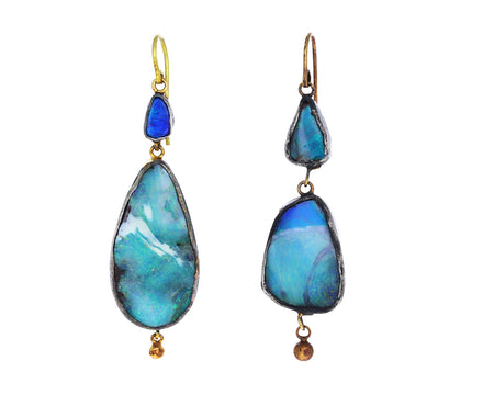 Opal Ancient Artifact Dangle Earrings