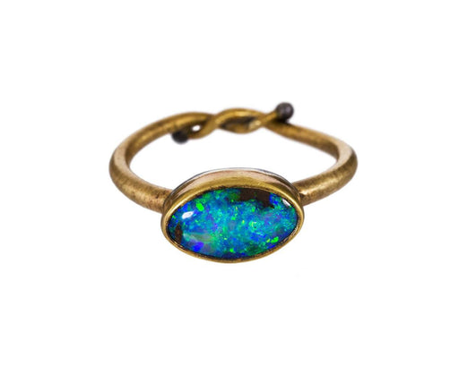 Oval Boulder Opal Ring - TWISTonline