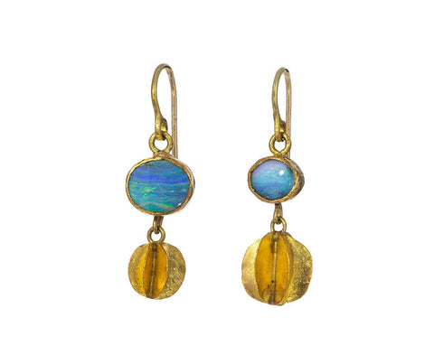 Opal Mismatchy Whirligig Earrings - TWISTonline