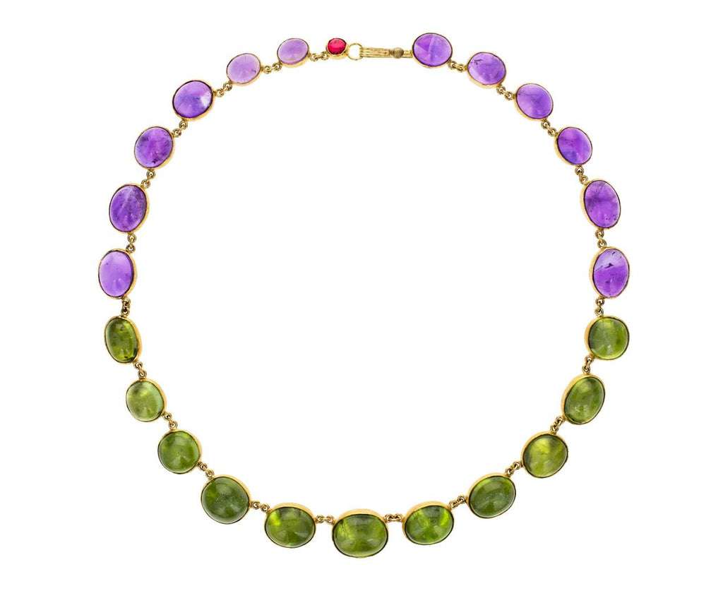 Amethyst and Peridot Riviere Necklace - TWISTonline