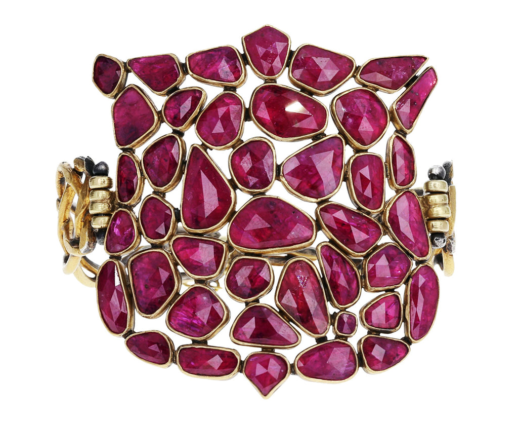 Ruby Shield Bracelet