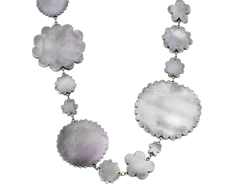 Superflat Silver Flowery Necklace