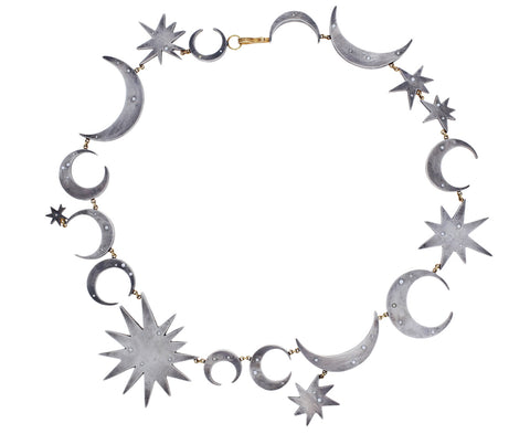 Sterling Silver and Diamond Intergalactic Necklace - TWISTonline