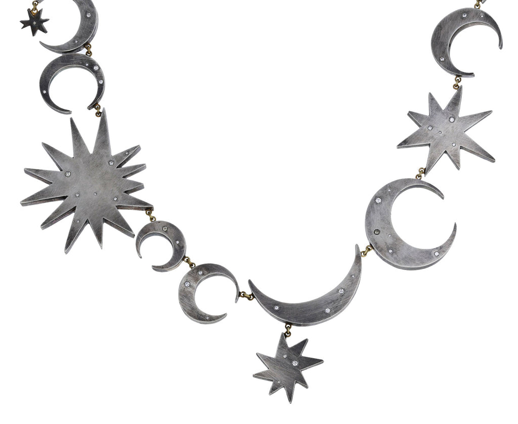 Sterling Silver and Diamond Intergalactic Necklace