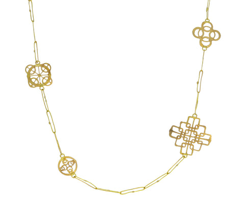 Gold Wheel Chain Necklace