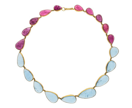 Pink Tourmaline and Aquamarine Necklace - TWISTonline