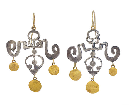 Silver and Gold Yu Yuan Earrings