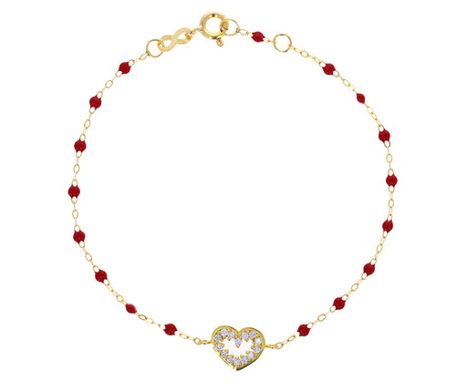 Poppy Resin Heart Supreme Beaded Bracelet