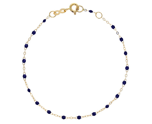 Midnight Blue Resin Beaded Bracelet