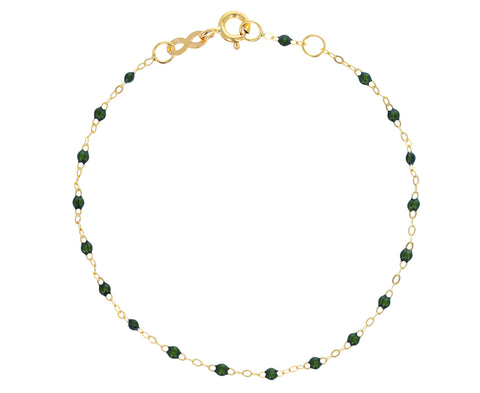 Scarab Green Resin Beaded Bracelet