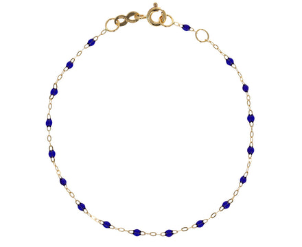 Prussian Blue Resin Beaded Bracelet