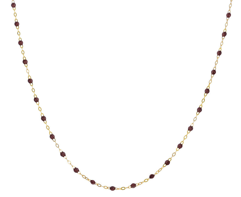 Short Copper Resin Beaded Necklace