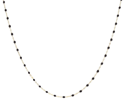 Short Smokey Quartz Resin Beaded Necklace
