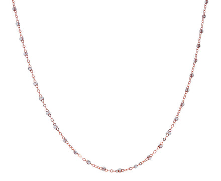 Short Rose Gold Super Sparkle Resin Beaded Necklace