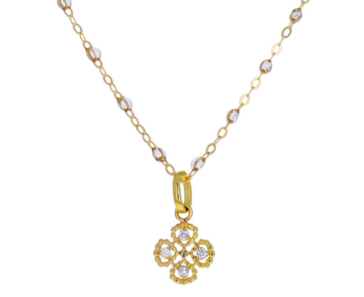 Diamond Lucky Clover Pendant ONLY