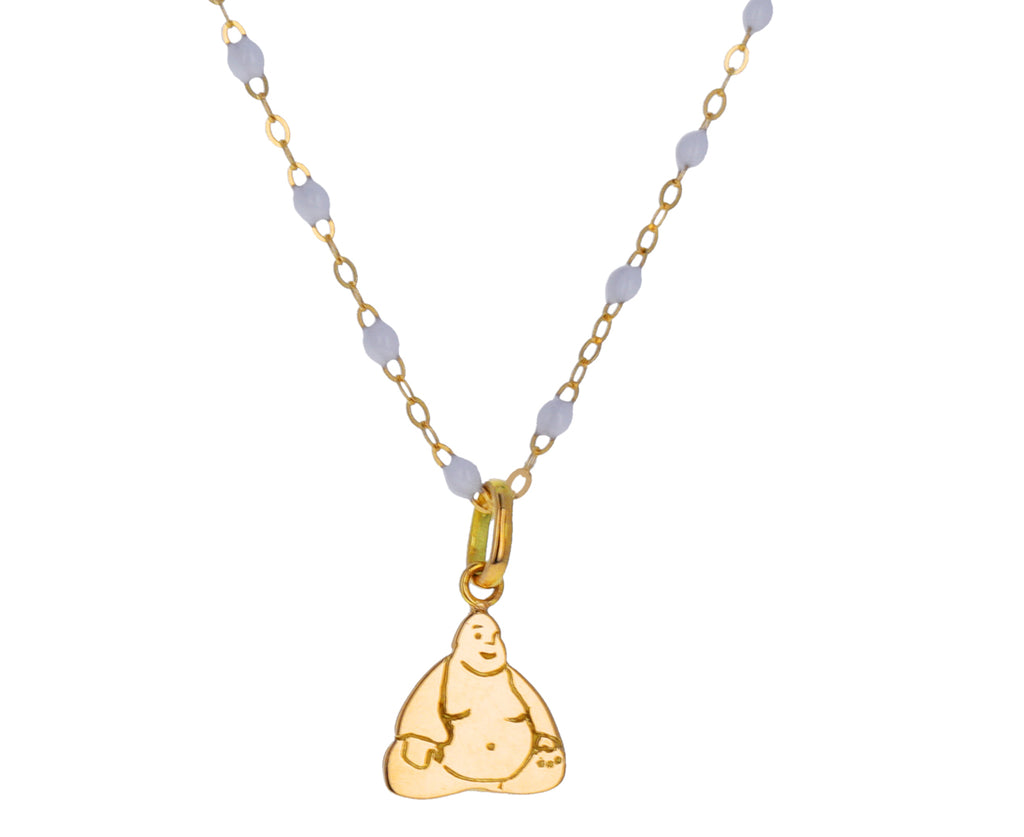 Small Gold Buddha Charm Pendant ONLY