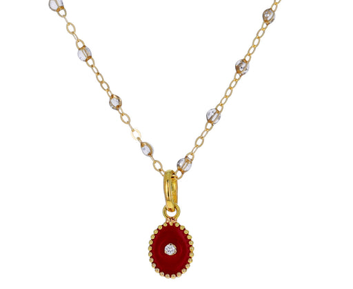 Red Enamel and Diamond North Star Pendant ONLY