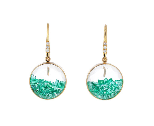 Emerald Kaleidoscope Shaker Earrings