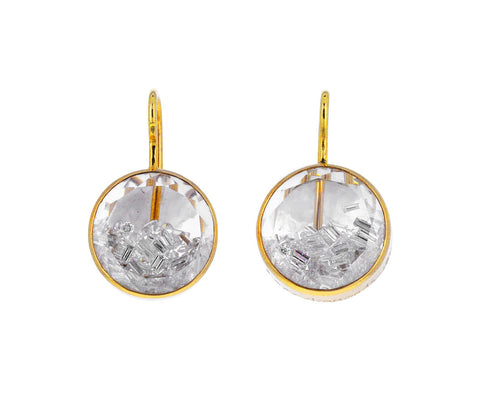 Diamond Kaleidoscope Shaker Earrings