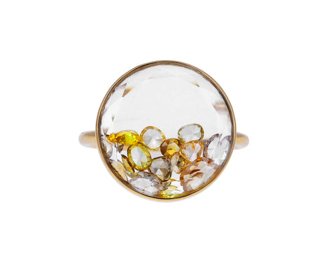 Yellow Diamond Shaker Ring