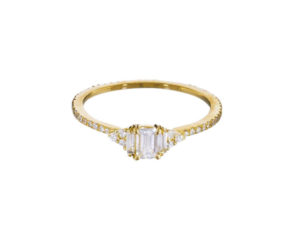 Philippa Emerald Cut Diamond Solitaire - TWISTonline