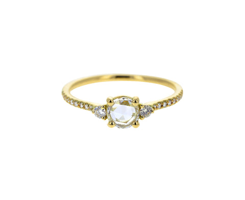 Yellow Gold Iris Diamond Solitaire Ring