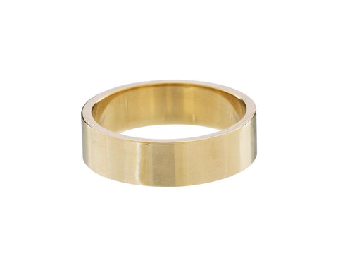 Wide Flat Men's Gold Band - TWISTonline