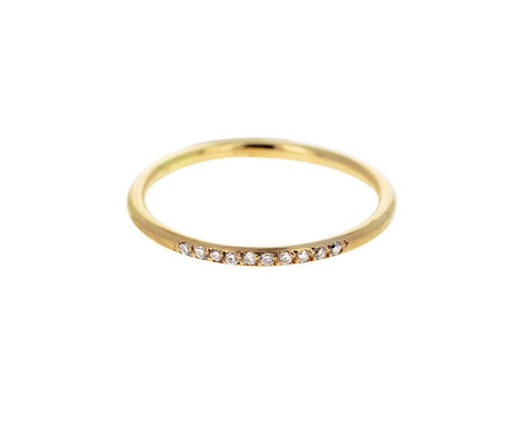 Slim Round Diamond Band