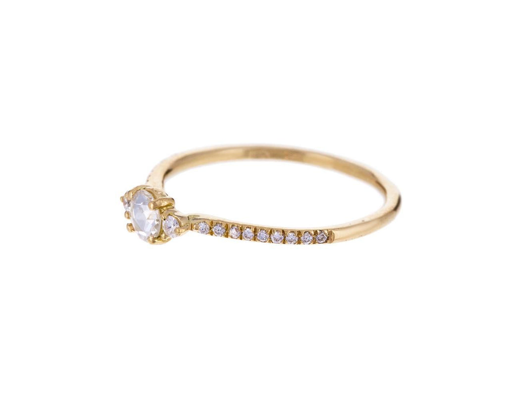 Yellow Gold Small Iris Solitaire - TWISTonline
