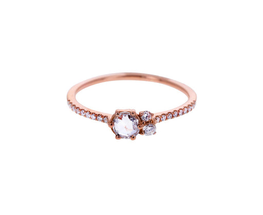 Rose Gold Small Lily Ring