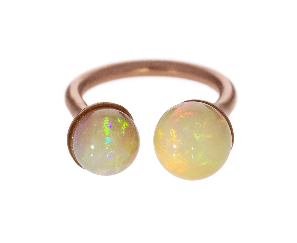 Double Dip Pink Opal Ring