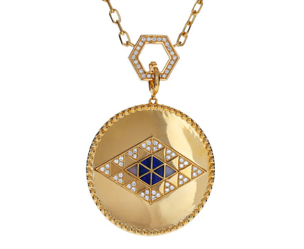 Opal and Diamond Elements Medallion Pendant ONLY - TWISTonline