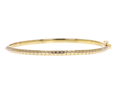 Skinny Diamond Talisman Bangle Bracelet