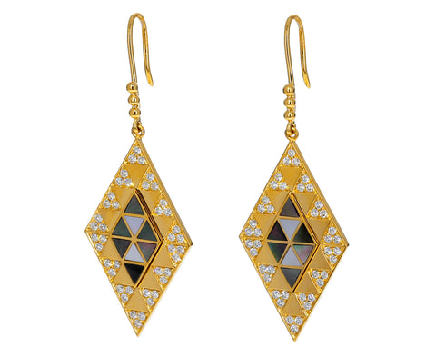 Diamond and Mother-of-Pearl Amina Earrings