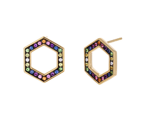 Rainbow Sapphire Foundation Earrings