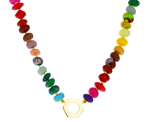 Multi Gem Foundation Necklace