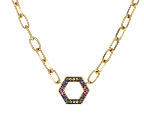 Rainbow Sapphire Foundation Necklace
