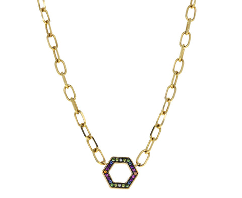 Rainbow Sapphire Thick Foundation Chain