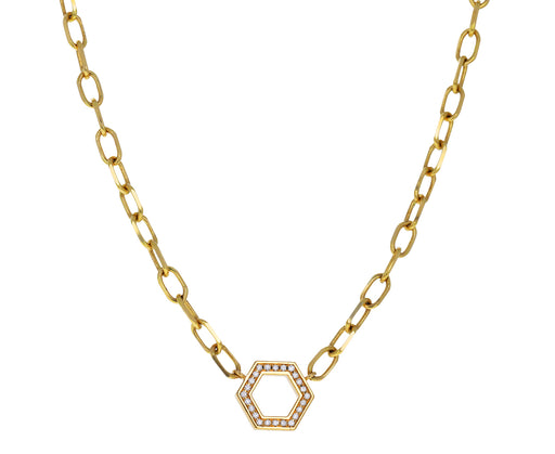 Diamond Thick Foundation Necklace