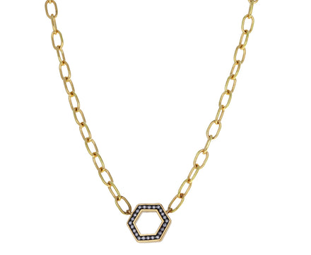 Diamond Thick Link Foundation Chain Necklace