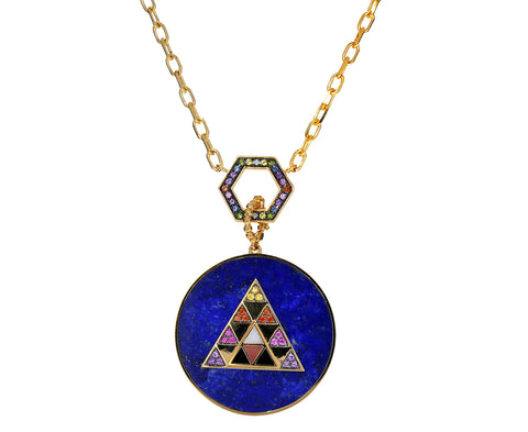 Lapis Triangle Medallion Pendant ONLY