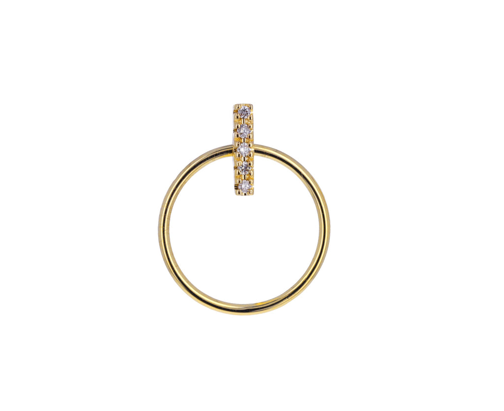 Diamond Doorknocker SINGLE Earring