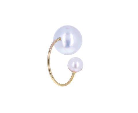 Double Akoya Pearl Ear Cuff