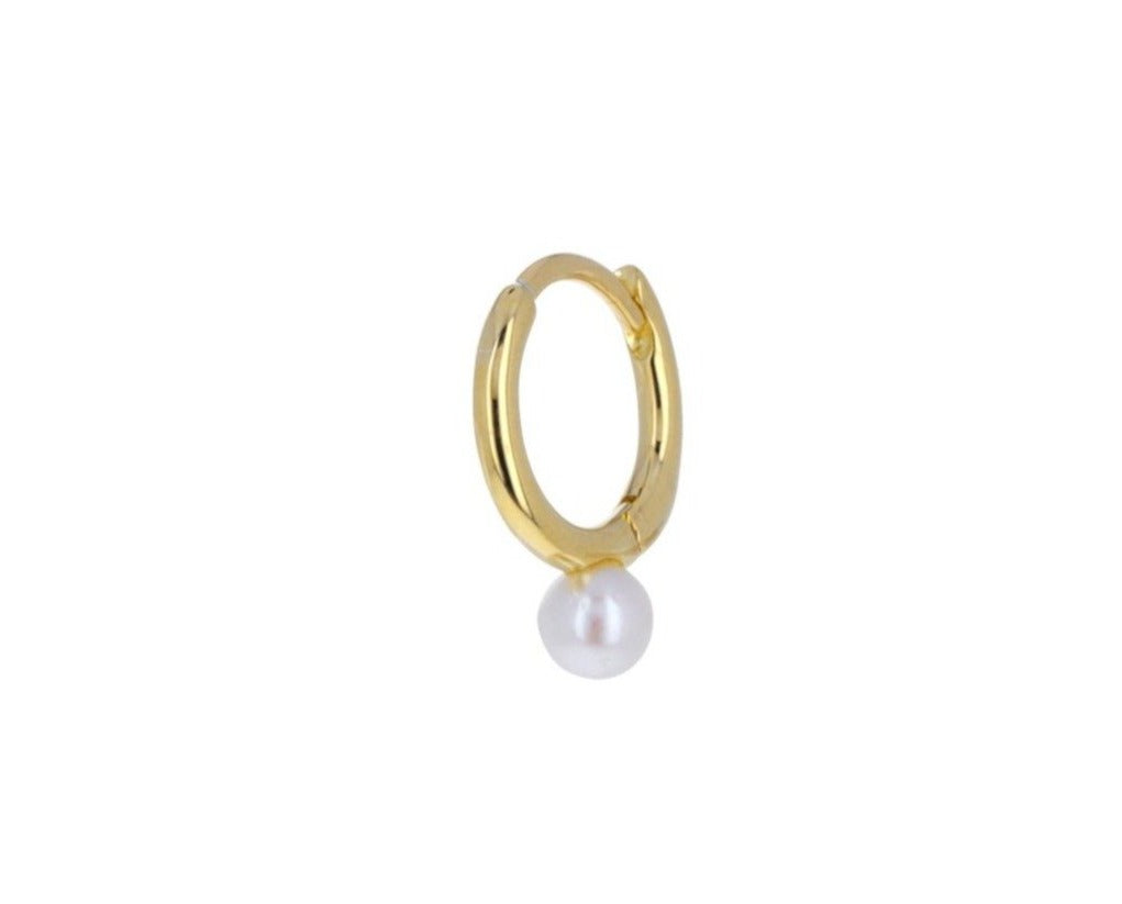 Akoya Pearl Hoop SINGLE Earring